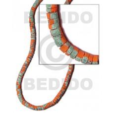 Orange 7-8 mm Coconut Heishi Painted Coco Heishe Beads BFJ027SPL