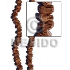 Palmwood Banana Cut 5 mm Brown Natural 16 inches Beads Strands Wood Beads - Nuggets Wood Beads BFJ225WB