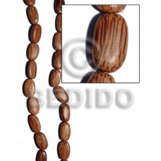 Palmwood Brown Oval 25 mm 16 inches Wood Beads - Flat Round and Oval Wood Beads BFJ192WB