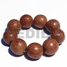 Palmwood Elastic Round 20 mm Wood Bracelets BFJ5316BR