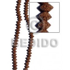 Palmwood Saucer 8 mm Brown Beads Strands Wood Beads - Saucer and Diamond Wood Beads BFJ253WB