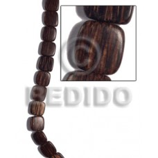 Patikan Wood Hardwood Face to Face Flat Square 25 mm Natural Wood Beads - Flat Square Wood Beads BFJ