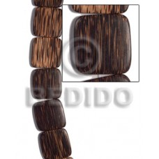 Patikan Wood Hardwood Face to Face Flat Square 35 mm Brown Wood Beads - Flat Square Wood Beads BFJ47