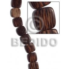 Patikan Wood Hardwood Face to Face Flat Square 5 mm Brown Wood Beads - Flat Square Wood Beads BFJ466