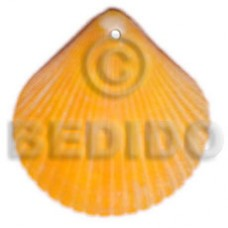 Piktin Shell Yellow Natural Pendants - Shell Pendants BFJ5112P