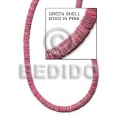 Pink Green Shell 16 inches Heishi Shell Heishe Shell Beads BFJ028HS