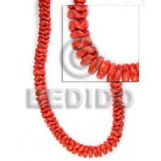 Red 16 inches Coconut Flower 10 mm Dyed Coco Flower Beads BFJ004FL