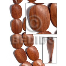 Red Wood Twist 30 mm Natural Beads Strands Wood Beads - Twisted Wood Beads BFJ470WB