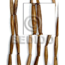 Robles Wood 25 mm Football Stick Brown 16 inches Beads Strands Wood Beads - Football and Cylinder Wood Beads BFJ098WB