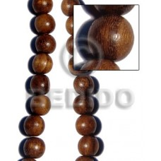 Robles Wood 25 mm Round Brown Natural Beads Strands Hardwood Wood Beads - Round Wood Beads BFJ254WB