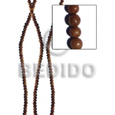 Robles Wood 5 mm Round Brown Natural Beads Strands Wood Beads - Round Wood Beads BFJ197WB