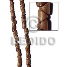 Robles Wood Slide Cut 11 mm Brown Beads Strands Wood Beads - Slide Cut BFJ248WB