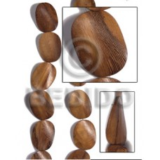Robles Wood Twist 30 mm Brown Beads Strands Wood Beads - Twisted Wood Beads BFJ457WB