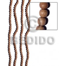 Rosewood 6 mm Round Natural Beads Strands Wood Beads - Round Wood Beads BFJ183WB