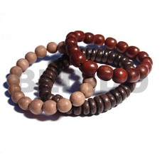 Rosewood Robles Wood Oval Bayong Wood Multi Row Wood Bracelets BFJ5342BR