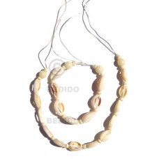 Sigay Cowry Shell Macrame thread White Set Jewelry Necklace Bracelets Set Jewelry BFJ063SJ