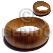 Solid Coated Graduated Bayong Wood 65 mm Inner Diameter / Outer 105 mm Bangles - Wooden Bangles BFJ089BL