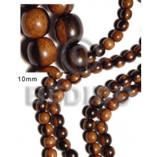 Tiger 16 inches Kamagong Wood Round 10 mm Natural Wood Beads - Round Wood Beads BFJ042WB