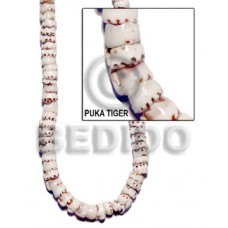 Tiger 16 inches Puka Shell Shell Heishe Shell Beads BFJ003PK