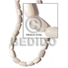 White 16 inches Trocha Shell Oval 8 mm Shell Special Cuts Shell Beads BFJ010SPS