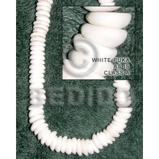 White 18 inches Puka Shell Natural Shell Heishe Shell Beads BFJ002PK