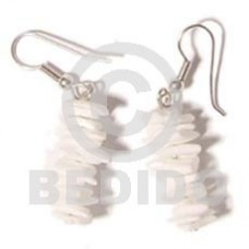 White Rose Dangling White Shell Earrings BFJ120ER