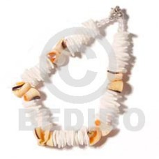 White Rose Luhuanus Red Everlasting Natural Sea Shell Bracelets BFJ672BR