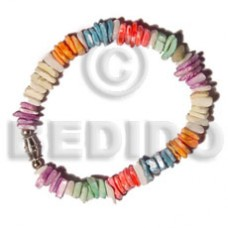 White Rose Multi-Color Sea Shell Bracelets BFJ5165BR