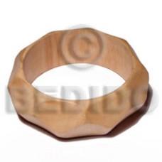 White Wood 65 mm Inner Diameter / Outer 105 mm Natural Coated Bangles - Wooden Bangles BFJ196BL