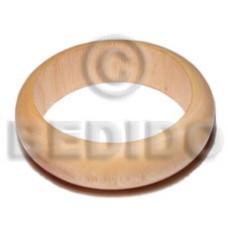 White Wood Coated Bangles - Wooden Bangles BFJ078BL
