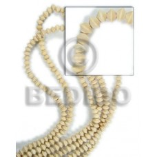 White Wood Mentos 8 mm Natural White Beads Strands Wood Beads - Saucer and Diamond Wood Beads BFJ072