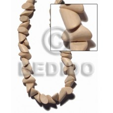 White Wood Nuggets Natural 20 mm White Beads Strands 16 inches Wood Beads - Nuggets Wood Beads BFJ41