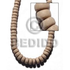 White Wood Pokalet 4 x 10 mm Natural Beads Strands White Wood Beads - Pokalet Wood Beads BFJ403WB