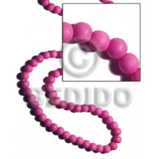 White Wood Round Pink 10 mm Dyed Beads Strands Wood Beads - Painted Wood Beads BFJ285WB