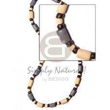 Wood Beads Bleached White Powder Blue Tube Coconut 4-5 mm Dyed Wooden Necklaces BFJ511NK