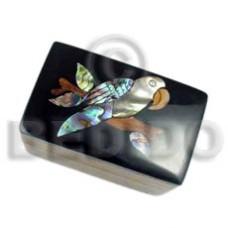 Wood Box Inlaid Bird Medium Jewelry Box BFJ003JB