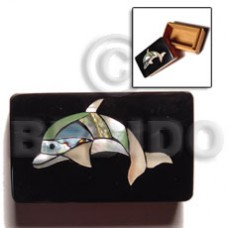 Wood Box Inlaid Dolphin Medium Jewelry Box BFJ008JB