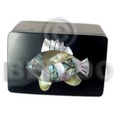 Wood Box Inlaid Fish Medium Jewelry Box BFJ001JB