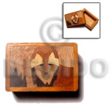 Wood Box Inlaid Fox Jewelry Box BFJ004JB