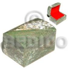 Wood Box Inlaid Paua Abalone Cracking Jewelry Box BFJ011JB