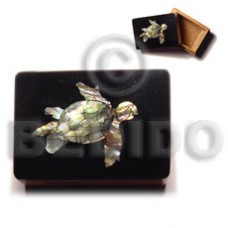 Wood Box Inlaid Turtle Medium Jewelry Box BFJ009JB
