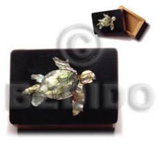 Wood Box Inlaid Turtle Medium Jewelry Box BFJ009JB