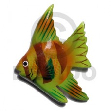 Wood Hand Painted Fish 65 mm Refrigerator Magnets BFJ002RM