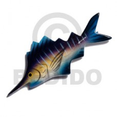 Wood Hand Painted Fish 95 mm Refrigerator Magnets BFJ013RM
