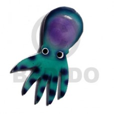 Wood Hand Painted Octopus 85 mm Refrigerator Magnets BFJ006RM