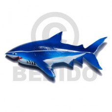 Wood Hand Painted Shark 110 mm Refrigerator Magnets BFJ028RM