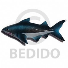 Wood Hand Painted Shark 65 mm Refrigerator Magnets BFJ001RM