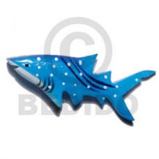 Wood Hand Painted Shark 75 mm Refrigerator Magnets BFJ031RM