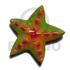 Wood Hand Painted Starfish 65 mm Refrigerator Magnets BFJ014RM