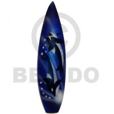 Wood Hand Painted Surfboard 100 mm Refrigerator Magnets BFJ038RM